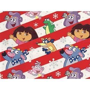 """Dora the Explorer Gift Wrap - 417' x 24"""" Half Ream SKU-PAS536277"""