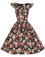 Lindy Bop 'Hetty' 1950 Vintage Spring Garden Floral Party Dress