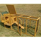 Large XXL Eggshell Buckingham 8ft 100% Fox Proof 3mm Welded & Coated Wire Chicken Coop Hen House Ark Poultry Run Nest Box Rabbit Hutch 2 to 4 birds