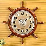 Wanduhr-Massivholz-Wanduhr-Wohnzimmerwnde-hngen-Tisch-Und-kreativen-stummen-Uhr-Persnlichkeit-der-Uhr-Rudder-Uhr-Uhren-die-Uhr-farbe-4