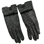 Houndstooth Bow Gloves
