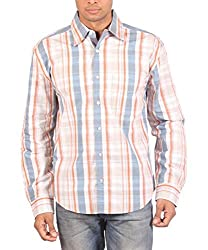 VERTIGO Men's Cotton Shirt (VERORG002_Multi-Coloured_46)