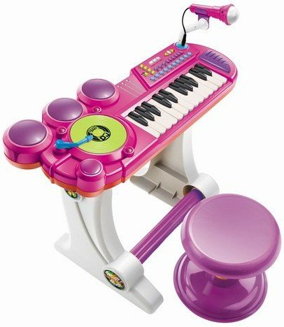 kids authority dj mixer with sound synthesizer drum set keyboard and new ebay. Black Bedroom Furniture Sets. Home Design Ideas
