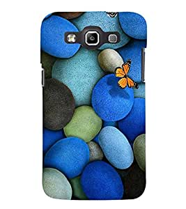 EPICCASE marble and butterfly Mobile Back Case Cover For Samsung Galaxy Quattro (Designer Case)