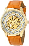 Akribos XXIV Men's AK410YG 'Saturnos' Skeleton Automatic Gold Watch