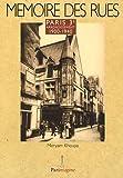 echange, troc Meryam Khouya - Paris 3e arrondissement : 1900-1940