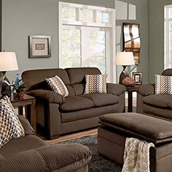 Simmons Upholstery 3685-02 Lakewood Cappuccino Loveseat