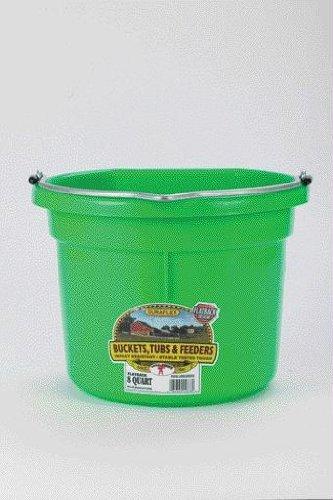 Best Quality Flat Back Plastic Bucket / Lime Green Size 8 Qu