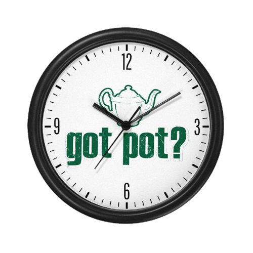 Wall Clock Got Pot Marijuana Grunge