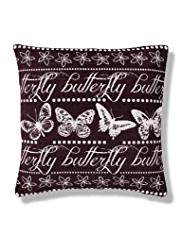 Chenille Butterfly Word Cushion