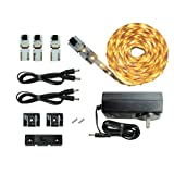 Cut and Connect Series Kit: Super Bright Warm White- 3M Flexible LED DIY Kit