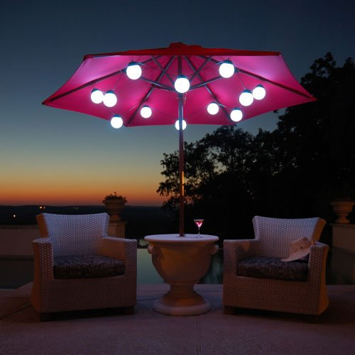 Led Umbrella Globe Lights - 12 String