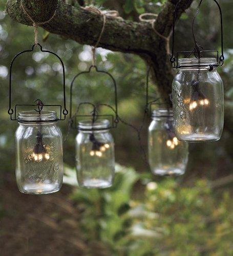 Glass Mason Jar Solar String Lights
