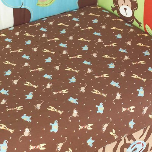 Too Good by Jenny McCarthy Zoo Zoo Fitted Crib Sheet - 1