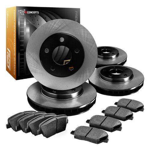 R1 Concepts CPOE11321 Premier Series Replacement Brake Rotors And Ceramic Brake Pads - Front and Rear