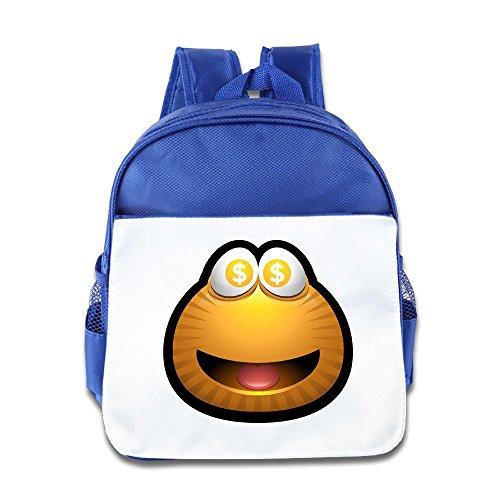 Jade Custom Funny Fortune Cat Teenager School Bagpack Bag For 1-6 Years Old RoyalBlue