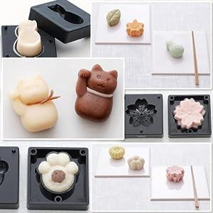 手作り和菓子道具 練りきり型(花シリーズ・ねこシリーズ・木の葉シリーズ) 花