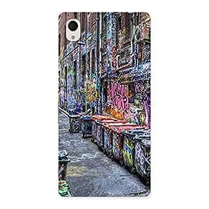 Special Color Art Streets Multicolor Back Case Cover for Xperia M4 Aqua