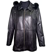 Johhnyblue 4001 Real Fur Lined STANDARD Grade Lambskin Leather Parka