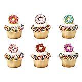 Donut Cupcake Rings - 24 pcs (Color: Multi)