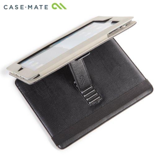 Case-Mate 日本正規品 iPad 2 Versant Leather Folio Stand Case With Hand-Strap, Black スタンド機能・ハンドストラップつき ブックタイプ レザー調ケース「Versant」 ブラック CM013826