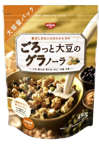 Nissin Cisco about boobs and soy Granola 480 g