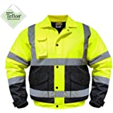 High Visibility Class III Reflective Jacket Removable Lining Two Tone