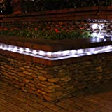 Solar Rope Light 22 ft. long, 50 long-life LED Lamps inside Weatherproof Sleeve (White Color)