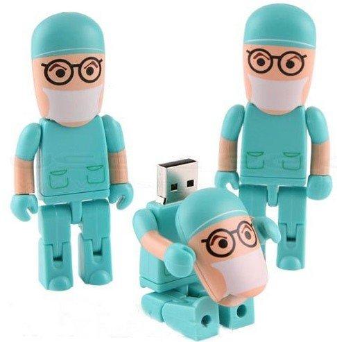 Mulpti-styles Cartoon Nouveaute USB Mignon cle flash Pen Drive Memory Stick Cadeau Data Traveler USB Drive 2.0 Flash (Docteur 16Go)