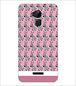 PrintDhaba Zebra Pattern D-1310 Back Case Cover for COOLPAD NOTE 3 LITE (Multi-Coloured)