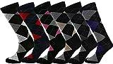 Royal Mens Dress Casual Argyle/Stripe Socks Cotton Blend Assortment 6/12 Pairs
