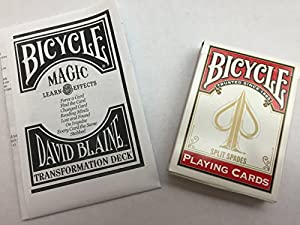 Bicycle David Blaine Transformation Playing Cards -Magic Deck w/ Instructions for 8 Tricks