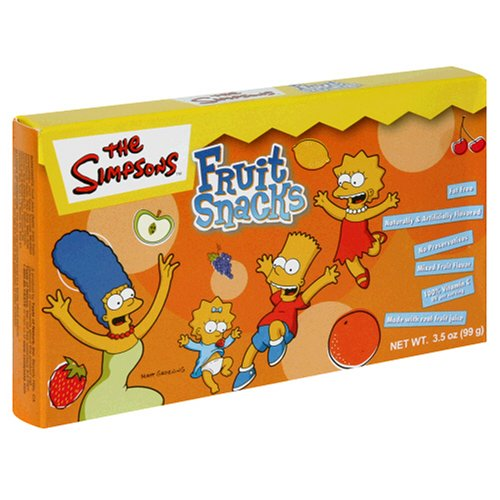 Buy Taste of Nature Simpsons Fruit Snacks, 3.5-Ounce Boxes (Packs of 30) (Taste of Nature, Health & Personal Care, Products, Food & Snacks, Snacks Cookies & Candy, Snack Food)