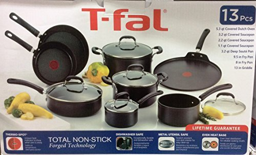 Tfal 13 Pieces Non-Stick Forged Aluminum Cookware Set (Tfal 13 Inch Griddle compare prices)
