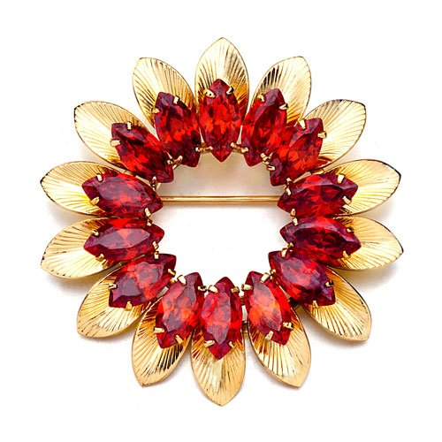 Pugster Red Yellow Sunflower Brooches And Pins