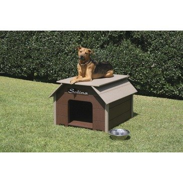 """Luxury Dog House Color: Driftwood, Size: Small (25"""" H x 38"""" W x 34"""" L)"""