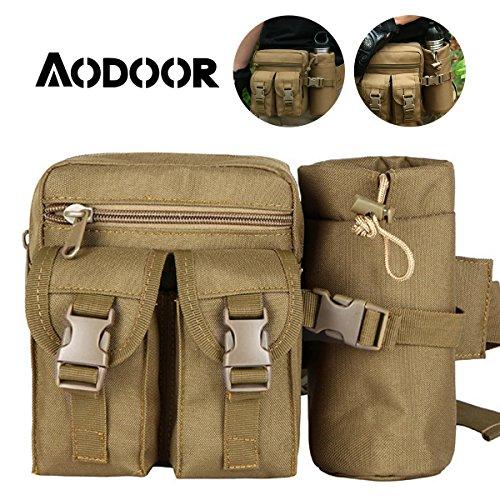 Aodoor Multifunzionale Tattico Militare Marsupio Unisex e Portaborraccia, borsa sportiva per l'equitazione trekking alpinismo