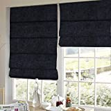 Presto Bazaar Black Solid Velvet Window Blind (60 Inch X 44 Inch)