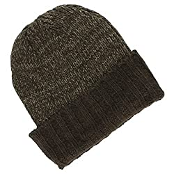 Croft & Barrow Knit Beanie Winter Hat Colorblock Brown/dark Brown One Size