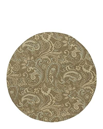 "Kaleen Home & Porch Indoor/Outdoor Rug, Mocha, 7' 9"" Round"