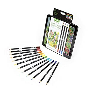 Crayola Blend & Shade Colored Pencils, Mothers Day Gifts for Mom, 24 Count (Color: Assorted)