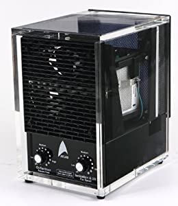 NEW Atlas Acrylic AIR Purifier PRO Dual Ozone, Washable Hepa Filter, Ionic UV Light, Air Cleaner R S, (with 3yr. Warranty!)