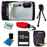 Olympus TG-850 16MP Waterproof Shockproof Freezeproof Digital Camera Silver Kit