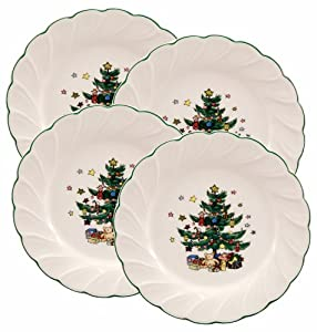Nikko Happy Holidays 8-Inch Salad Plate, Set of 4