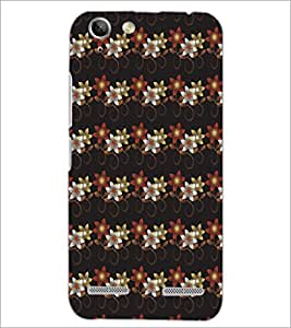 PrintDhaba Floral pattern D-5382 Back Case Cover for LENOVO A6020a46 (Multi-Coloured)