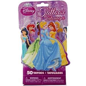 Disney princesses 3d novelty pack of 50 for Disney temporary tattoos
