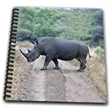 Angelique Cajam Safari Animals - South African Rhino side view - Memory Book 12 x 12 inch (db_20116_2)