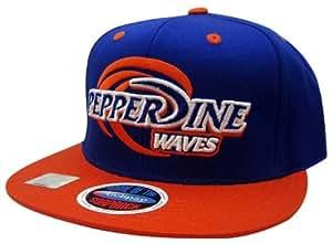 ncaa pepperdine waves logo style snapback hat