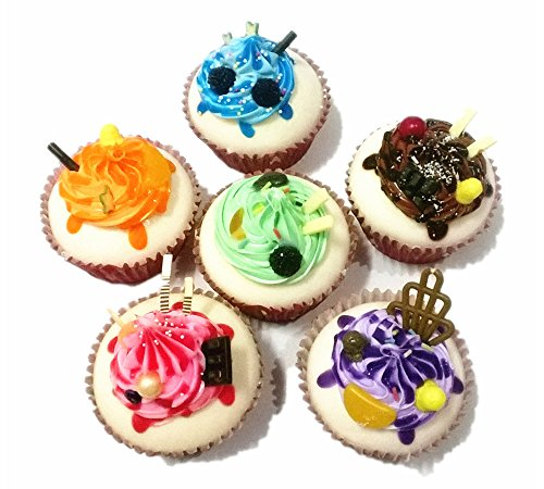 SFamily 6pcs Artificial PU Cupcakes Fake Dessert Cake Shop Display Home Kitchen Fridge Wedding Decor Photography Props (Display Fake Cupcakes compare prices)
