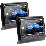 Navihouse 9 -Inch LCD Dual Screens Portable DVD Player (Black) with HDMI/USB/SD Card Reader, Car Mounting Kit Universal Auto Headrest